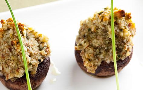 Gevulde champignons met Kees