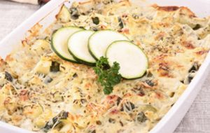 Aardappel-courgetteschotel