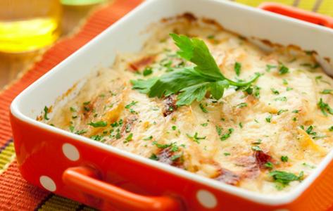 Aardappel-wortel gratin